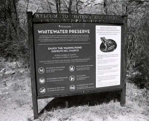 Whitewater Preserve Sign