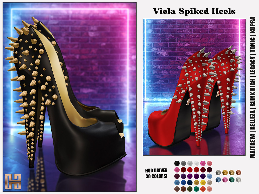 Hilly Haalan – Viola Spiked Heels