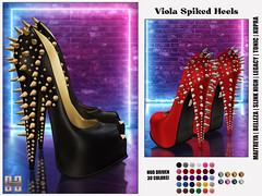 Hilly Haalan - Viola Spiked Heels
