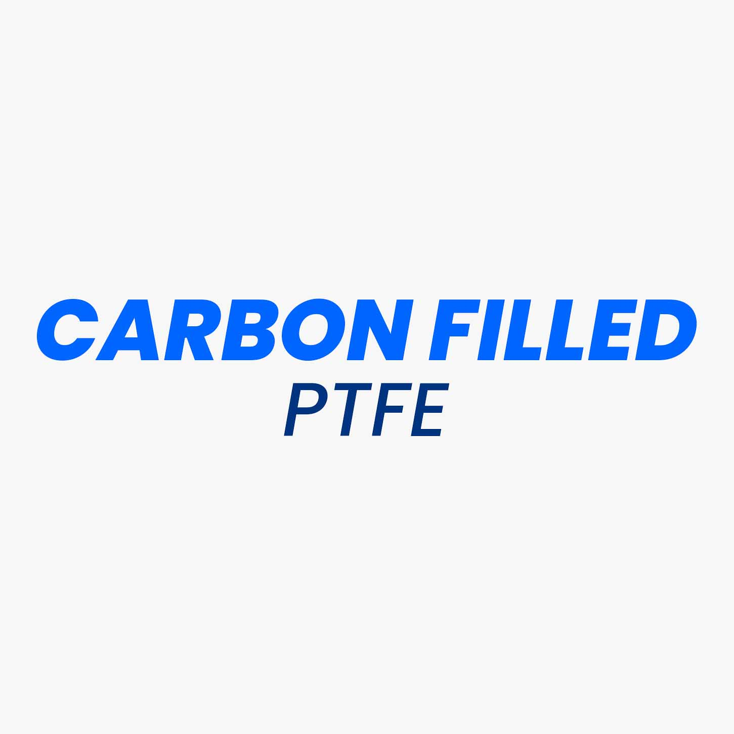 Virgin PTFE has good wear resistance, elastic and frictional properties, but its mechanical strength cannot withstand dynamic and high-pressure applications. Hence, Carbon is added in PTFE in the form of powder or fibres as the filler material, which improves the mechanical properties such as compressive strength and wear resistance of the PTFE. This makes the Carbon filled PTFE an excellent choice of material for rings and seals in a dynamic and high-pressure environment. As carbon is a conductive material, this ensures the suitability of Carbon filled PTFE products for higher thermal applications.
