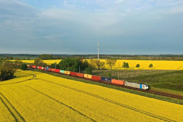 Metrans 186 552 + Güterzug/goederentrein/freight train  Praha - Hamburg  - Priort