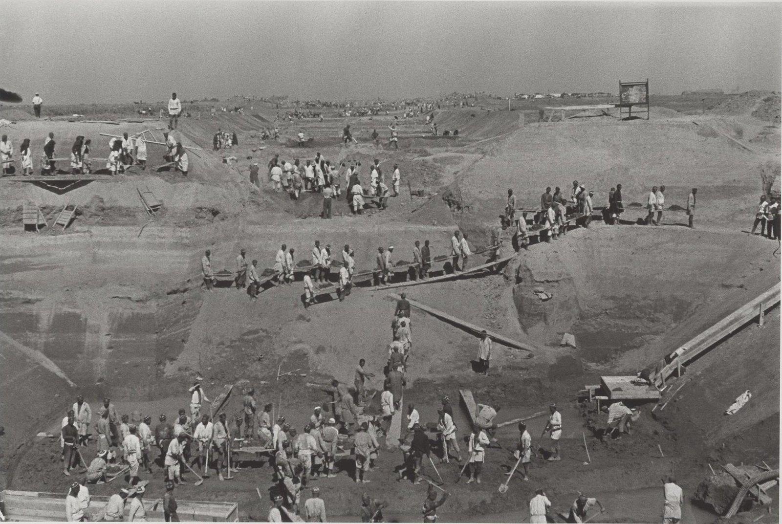 1939. Большой Ферганский канал им. Сталина. Строительный пейзаж