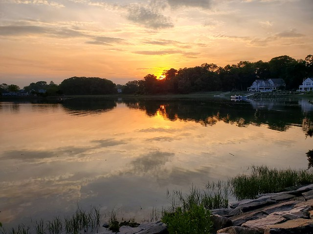 Farm Creek Sunset