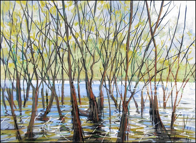 WILLOWS IN THE WATERS OF THE AYAN (EN-PLEIN-AIR SKETCH)