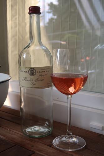 Fleischer Cuvée Rosé  auf unserem Balkon