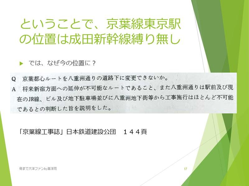 京葉線東京駅の登記と成田新幹線東京駅 (17)