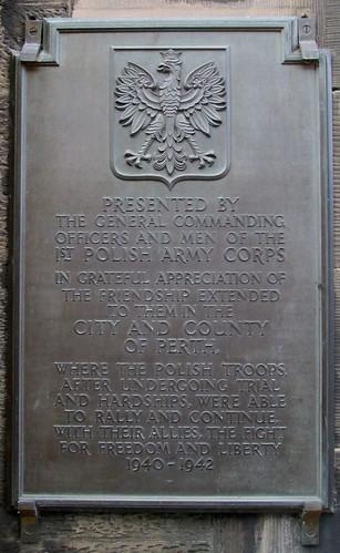 Polish Memorial, High Street, Perth
