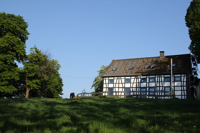 The half-timbered house on the hill