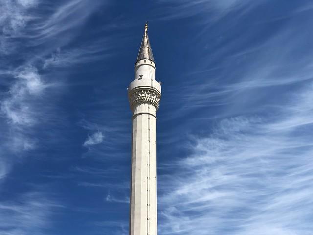 Minarete de la Mezquita del Rey en Berat (Albania)