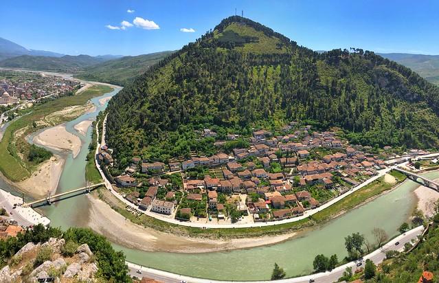 Vistas desde el castillo de Berat (Albania)