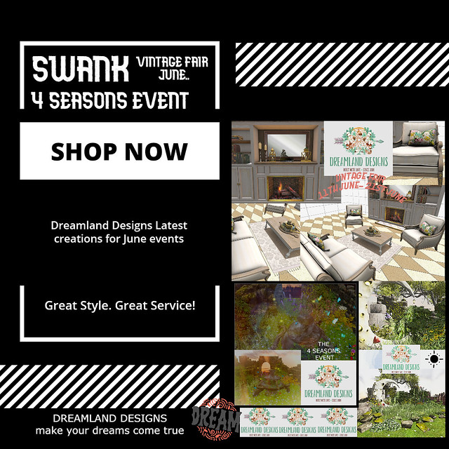JUNE EVENTS WITH DREAMLAND DESIGNS