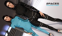 SF costume - Bom + rigged cuffs and collar