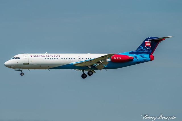 [ORY] Slovak Government Fokker-100 _ OM-BYB