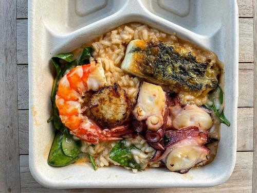 Seafood Risotto, Prawn, Octopus, Barramundi, Scallop