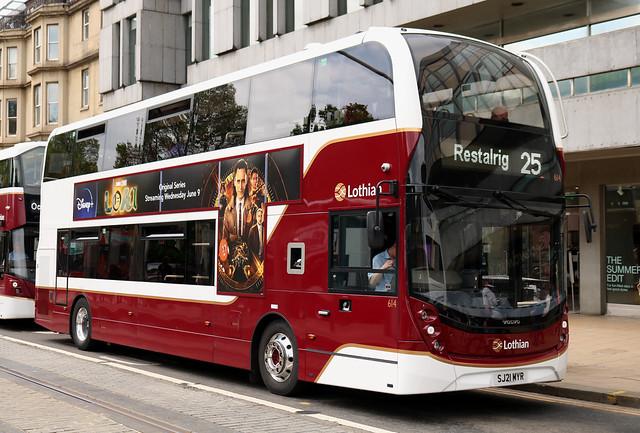 Lothian Buses: 614 SJ21MYR Volvo B5TL/Alexander Dennis Enviro 400MMC