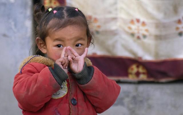 Little Girl in Darchen, Tibet 2019
