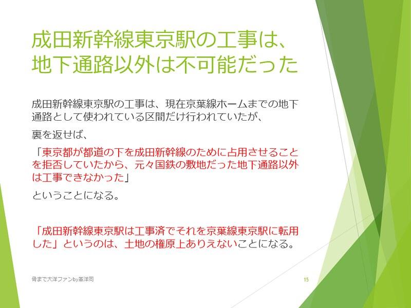 京葉線東京駅の登記と成田新幹線東京駅 (15)