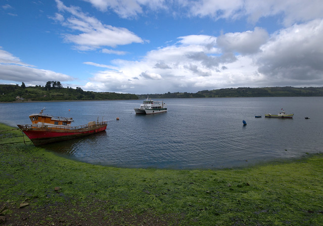 Chiloe island boats, Chile
