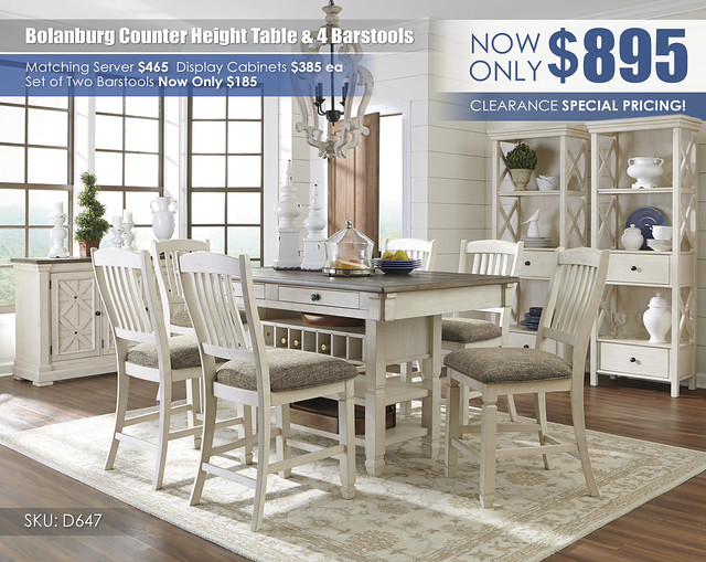 Bolanburg Counter Height Table & 4 Barstools_D647-32-124-(6)-60-76_June2021