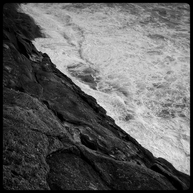Waves and rock