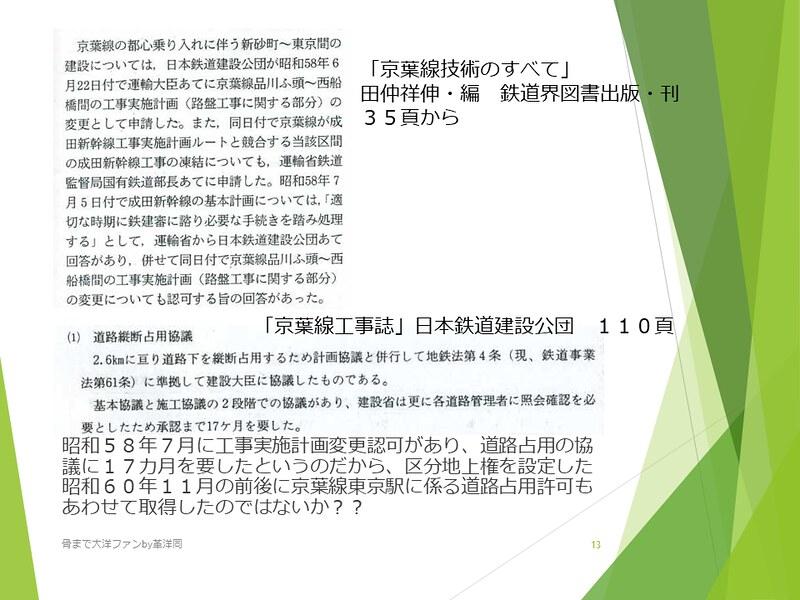 京葉線東京駅の登記と成田新幹線東京駅 (13)