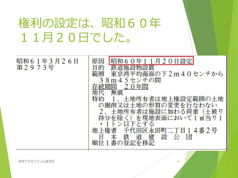京葉線東京駅の登記と成田新幹線東京駅 (4)