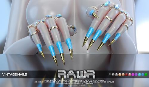 RAWR! Vintage Nails PIC
