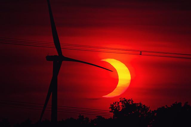As seen from Centennial Road: Partial Eclipse - June 10, 2021