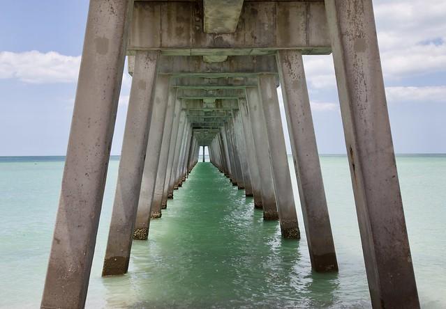 Under the Pier. Brohard Beach, Venice, Florida