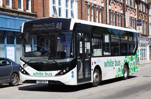 YX68ULY White Bus (Jeatt) 61 Woking