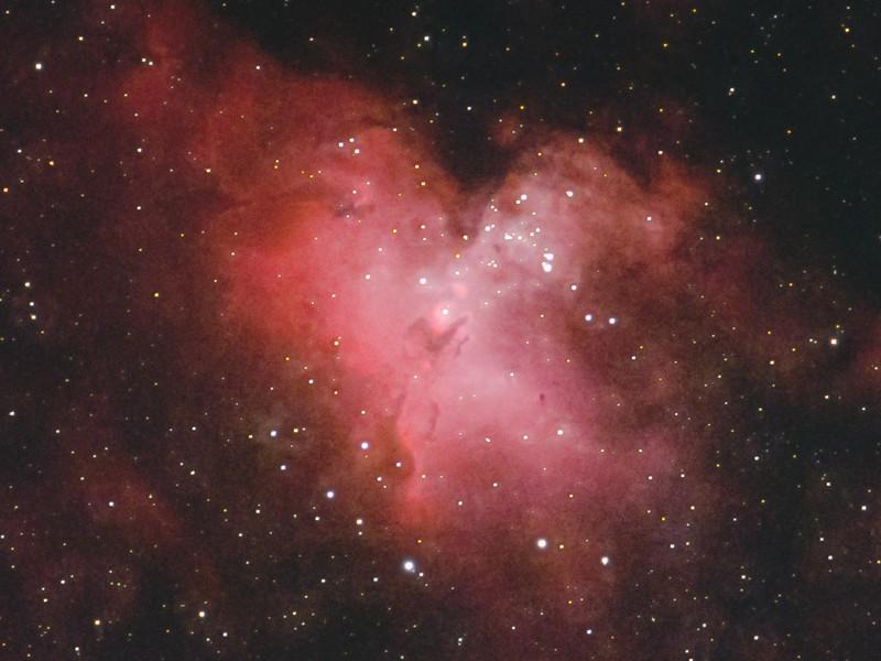 M16 わし星雲 中央部 (2021/6/9 23:01)