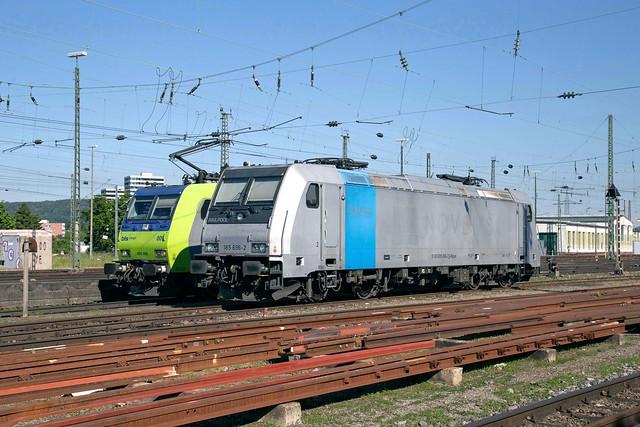 BLS 485 009 + Railpool 185 696 Basel Badischer Bahnhof