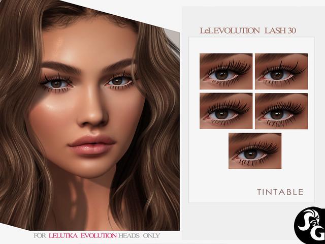 5 Tintable Lashes for LEL Evo heads @ Ebento