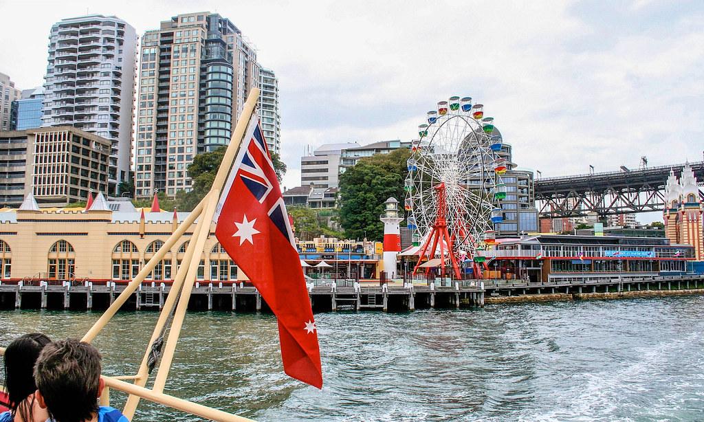 Milson's Point  Luna Park  / The Sydney Ferry to Darling Harbour - Version 2