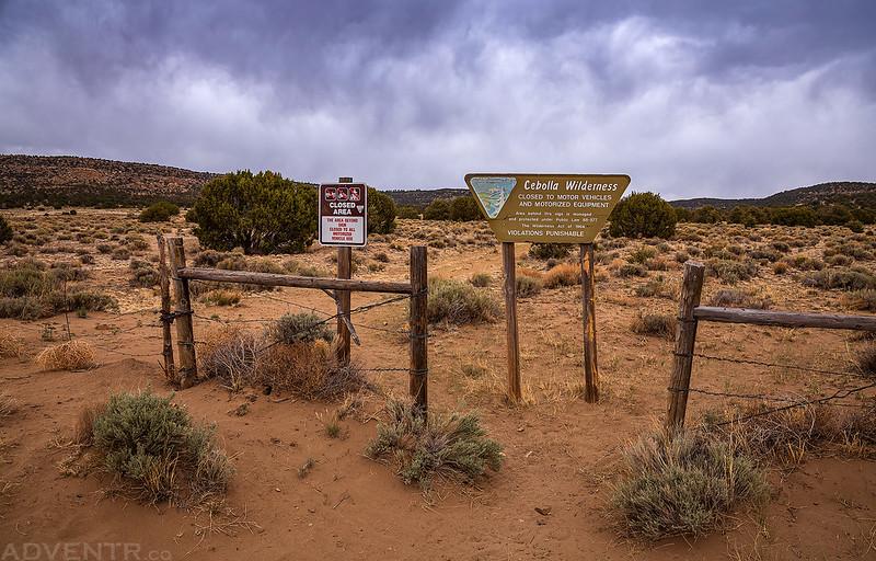 Cebolla Wilderness Entrance