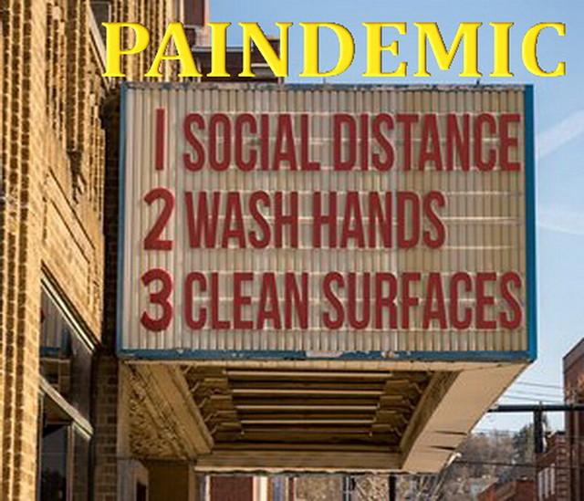 Movie Cinema Billboard With Three Basic Rules To Avoid The Coronavirus Or Covid-19 Epidemic Of Wash