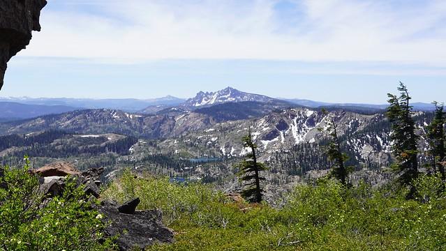Sierra Buttes from Mt. Elwell