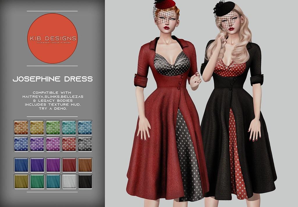 KiB Designs – Josephine Dress @VINTAGE FAIR 2021 – 11th/21st June