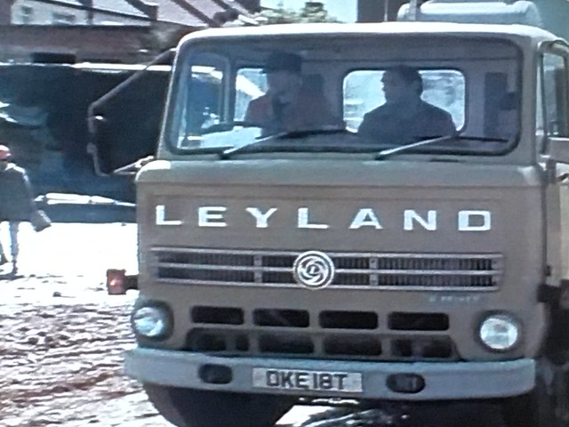 Still from Dempsey and Makepeace ,close up of the Leyland Reiver mixer ,ex ARC .