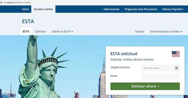 Formulario ESTA en e-Visado.es