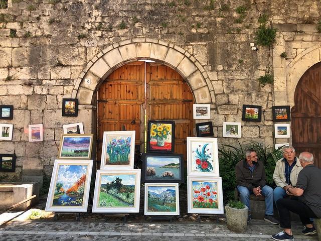 Artesanos en Tirana (Albania)