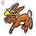 Kid Stuff :: WILD WEST C.O.W.-Boys of MOO MESA .. sticker set, MESA HARE isolated  // art by Chuck Fiala  (( 1999 - 2000 ))