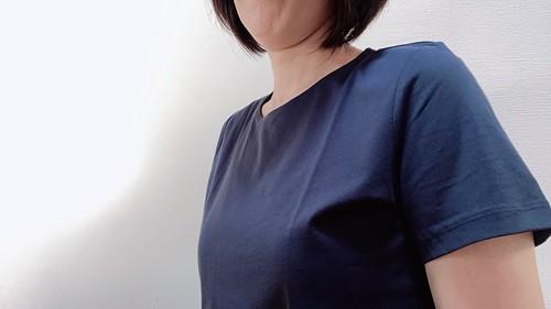 ドゥクラッセTライト・クルーネック/半袖・着画