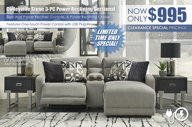 Colleyville Stone 3-PC Power Reclining Sectional_54405-58-57-97-SET