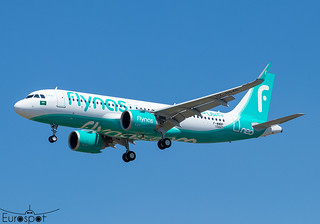 F-WWBP / HZ-NS45 Airbus A320-251N FLY NAS s/n 10442 - First flight * Toulouse Blagnac 2021 *