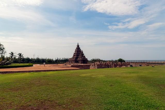 Seashore temple in Color at Mahabalipuram, India