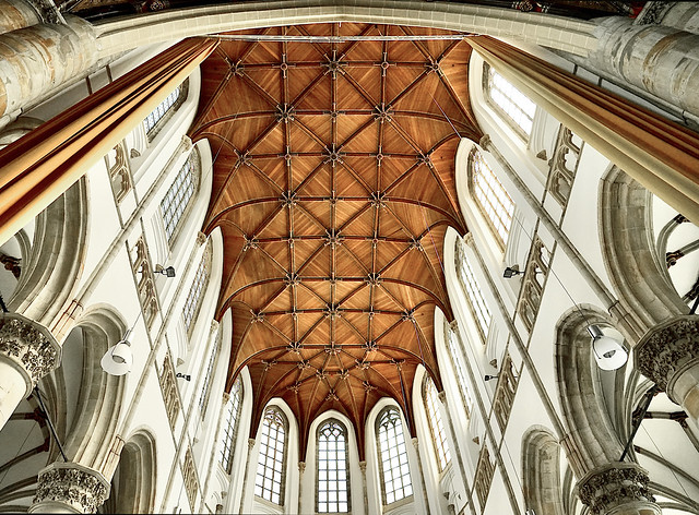 Constructie houten plafond Grote kerk