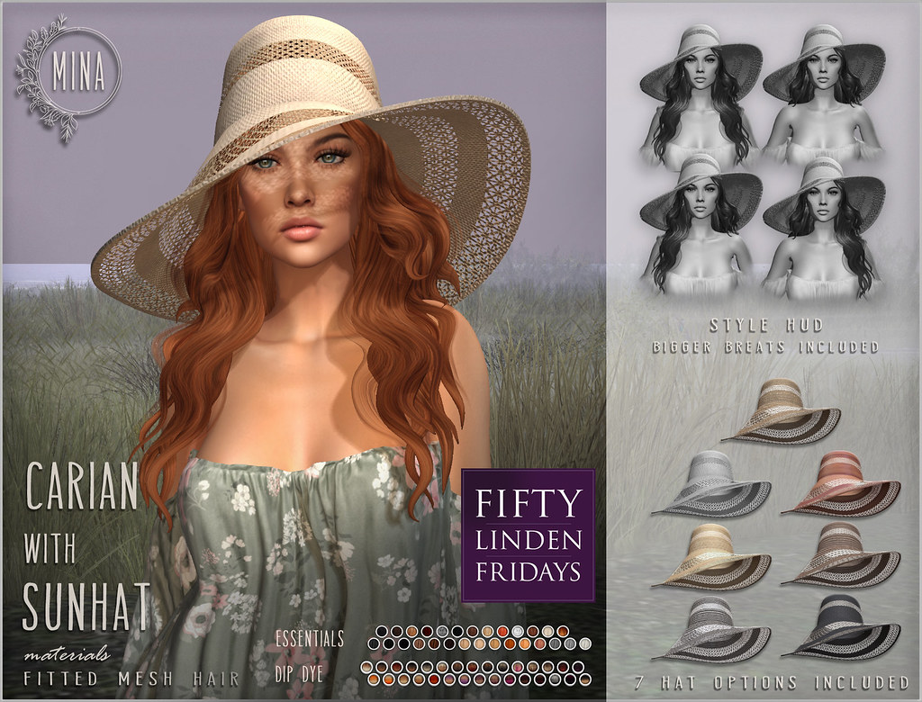 MINA – Carian with Sunhat for Fifty Linden Friday
