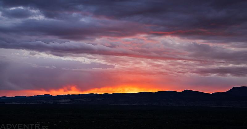 Zuni Mountains On Fire