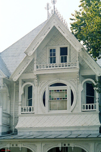 windows house architecture florida scrollwork victorian gingerbread lodge masonic historical 1986 gable mountdora queenannestyle
